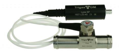 Mobile Messtechnik Testfahrzeugen: Lysis Durchflusstransmitter mit TrigasDM Druchflussmesser-Pickoff