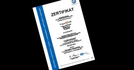 ISO9001DM - Kalibrierung Trigas DM hochgenaue Durchflussmesstechnik